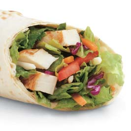 picture of a chicken wrap